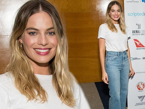 Margot Robbie attends the Australians in Film screening of 'Once Upon a Time in Hollywood'