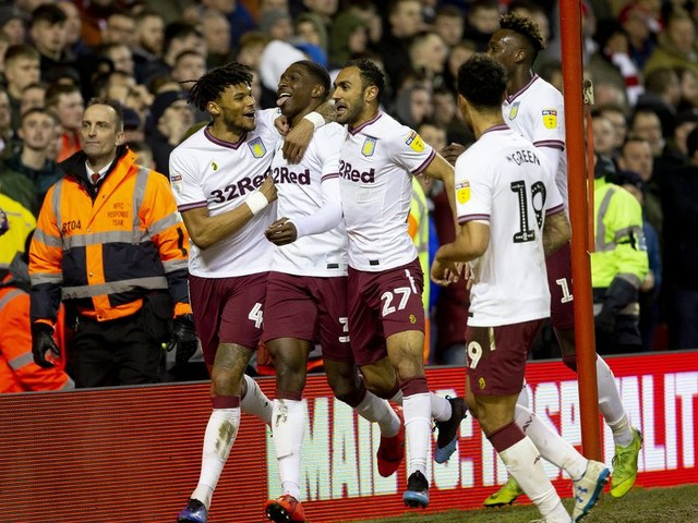 Aston Villa are above Leeds United, Norwich City, Sheffield United and West Brom in this table