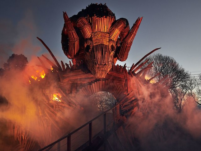 First images of Alton Towers' new rollercoaster Wicker Man released - and it looks absolutely terrifying