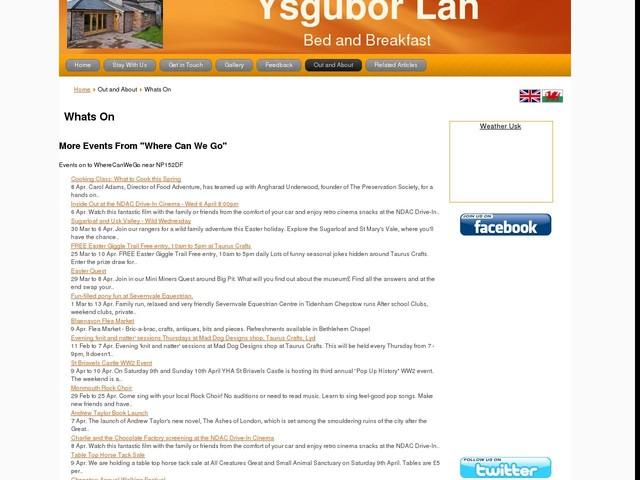 Whats On - Ysgubor Lan