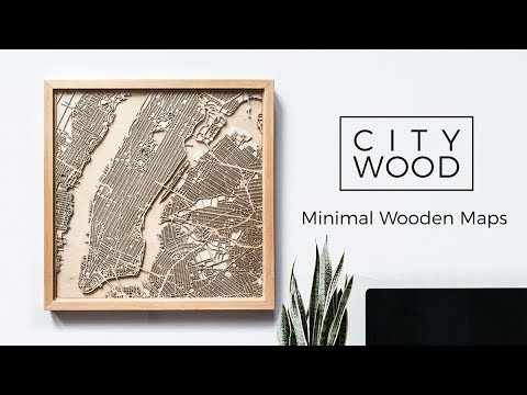 Minimalist Wooden Maps - These Laser-Cut Wooden Maps Tells Stories About Beloved Cities (TrendHunter.com)
