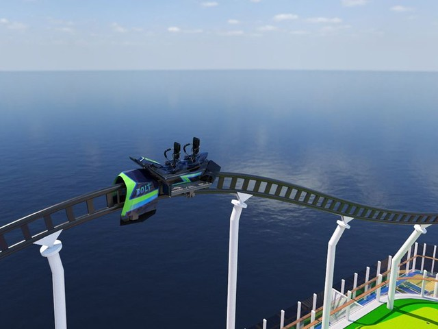 World's first rollercoaster at sea revealed - take a sneak peek of the ride