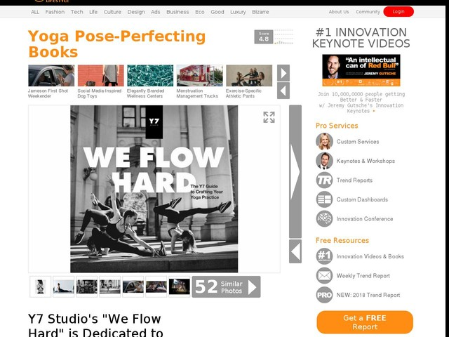 "Yoga Pose-Perfecting Books - Y7 Studio's ""We Flow Hard"" is Dedicated to Yogis (TrendHunter.com)"