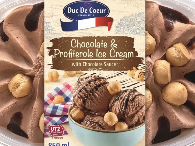 Lidl launch chocolate profiterole ice cream that contains mini Choux buns