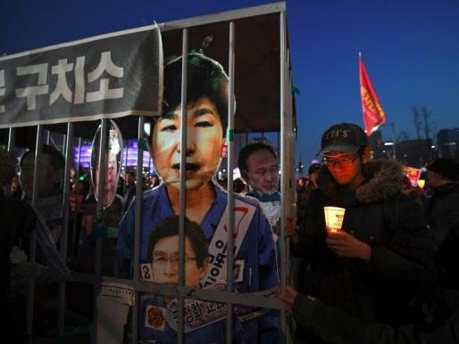 S. Korea protesters demand impeached president Park's arrest
