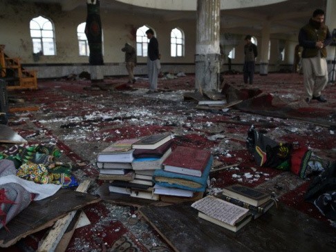 'Smell of blood and flesh' in Kabul mosque hit by suicide bomber