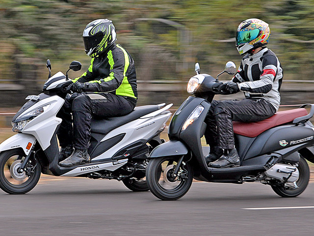 Review: 2017 Honda Grazia vs Suzuki Access 125 comparison