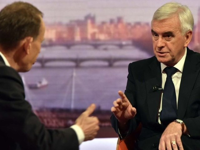 MPs can stop no-deal Brexit, says Labour's McDonnell