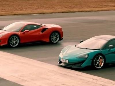 Ferrari 488 Pista vs. McLaren 600LT Has Epic Chris Harris Narration