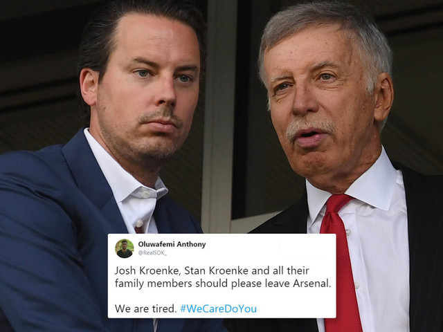 Arsenal fans raging with Josh Kroenke after he pens open letter to supporters