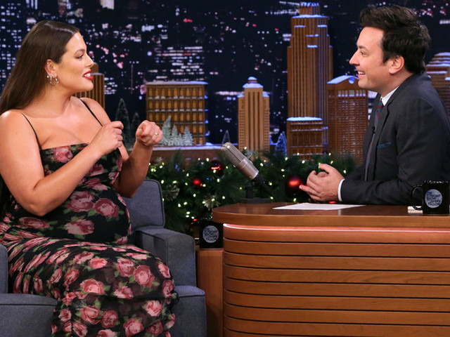 Pregnant Ashley Graham Tells 'Fallon' She's 'Large and in Charge' - Watch Here!