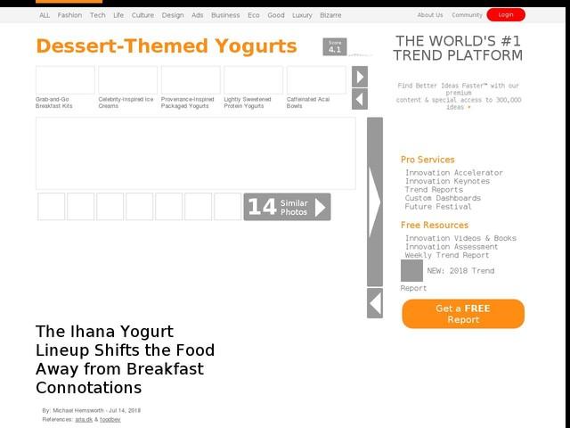 Dessert-Themed Yogurts - The Ihana Yogurt Lineup Shifts the Food Away from Breakfast Connotations (TrendHunter.com)
