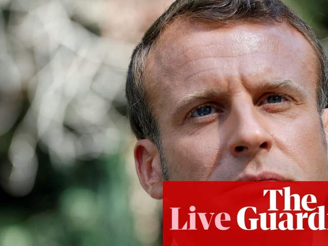 Macron warns Boris Johnson Brexit could turn UK into vassal state of US before they meet in Paris - live news