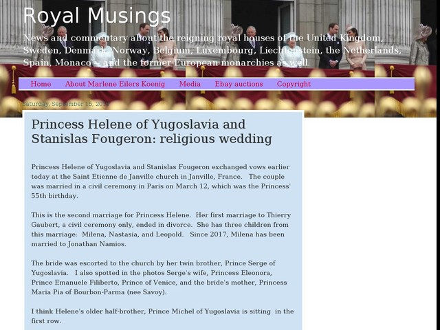 Princess Helene of Yugoslavia and Stanislas Fougeron: religious wedding