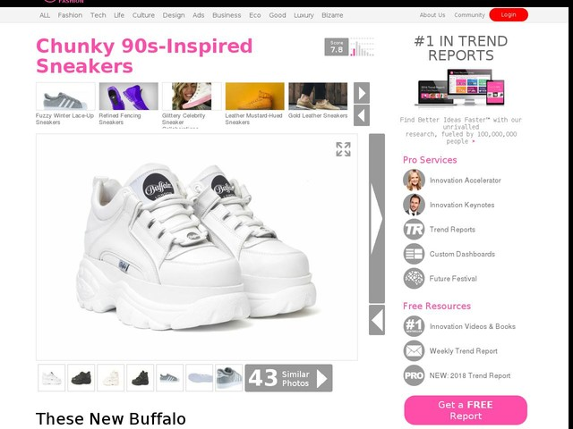 Chunky 90s-Inspired Sneakers - These New Buffalo Sneakers Boast Bold Monochrome Looks (TrendHunter.com)