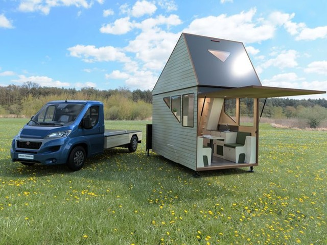 Expandable Two-Story Tiny Homes - The Haaks 'Opperland' Camper Can be Brought Almost Anywhere (TrendHunter.com)