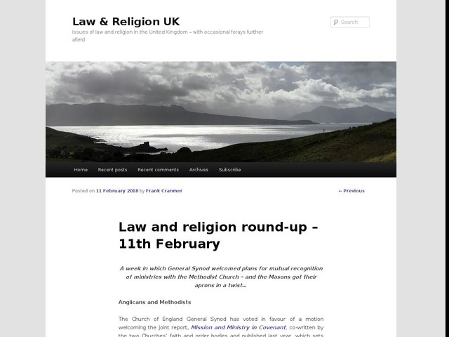 Law and religion round-up – 11th February