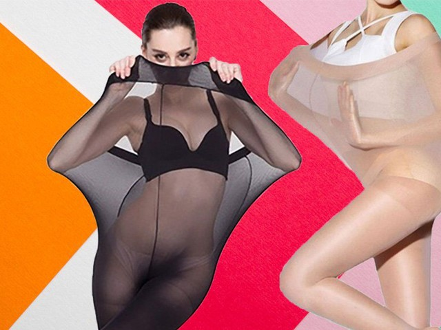 Company criticised for advertising plus-size tights with models stretching them over their bodies