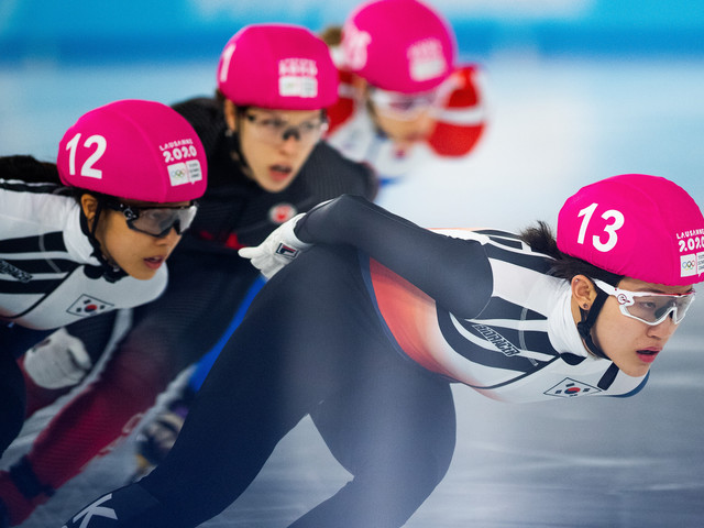 South Korea dominate short track speed skating at Lausanne 2020