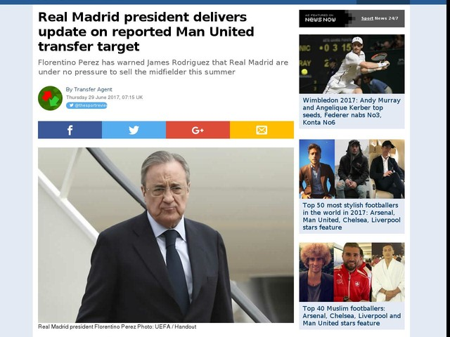 Real Madrid president delivers update on reported Man United transfer target
