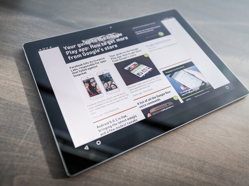The Pixel C tablet gets some love from Google with a new launcher and multitasking interface
