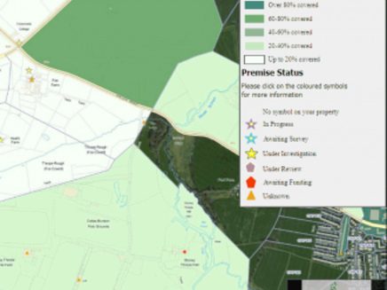 """Warwickshire Upgrades Coverage Map for """"Fibre Broadband"""" Rollout"""