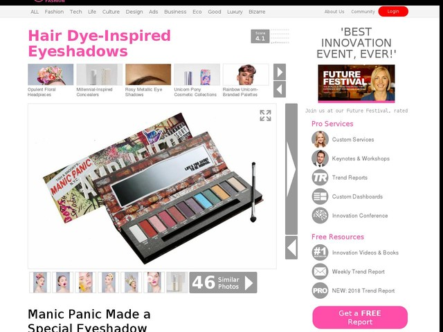 Hair Dye-Inspired Eyeshadows - Manic Panic Made a Special Eyeshadow Palette for Its 40th Anniversary (TrendHunter.com)