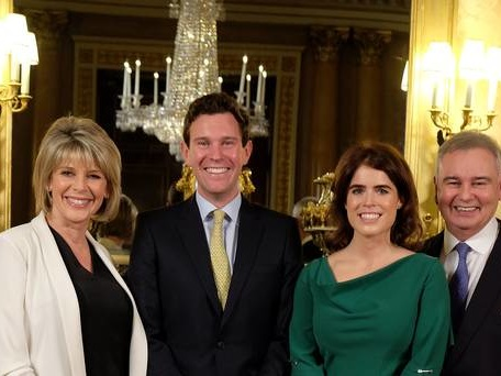 Eugenie and Jack reveal their love story to Eamonn and Ruth in TV wedding special
