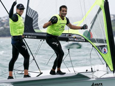 Local heroes hold on to earn fifth World Championship 49er title in Auckland