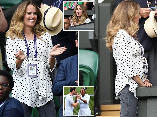 Andy Murray's wife wears polka dot MATERNITY top