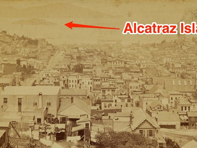 A vintage panorama of San Francisco in 1877 gives a rare look at the city before it was destroyed by an earthquake. The photos sold for $14,000.