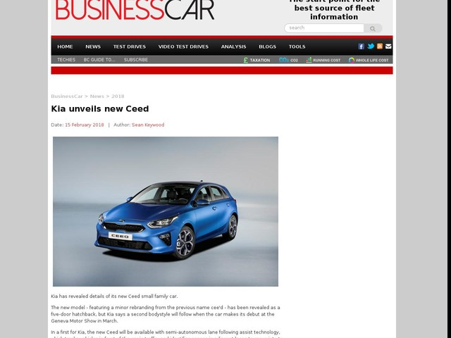 Kia unveils new Ceed