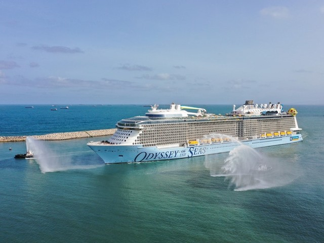 Odyssey of the Seas Cruise Ship Arrives into Fort Lauderdale for the First Time