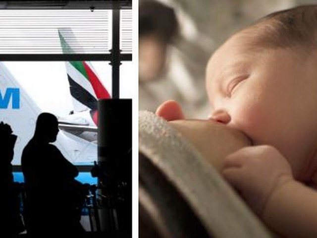 Travellers outraged after KLM tells breastfeeding mum to cover up