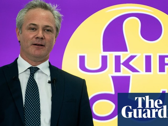 New Ukip leader claims traitorous 'EU cult' is betraying Brexit