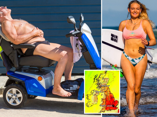 UK weather forecast – Brits told 'stay inside' after 11am in urgent health warning for record-breaking 33C August Bank Holiday scorcher