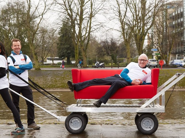 Look out for Look North - and their famous red sofa in tow