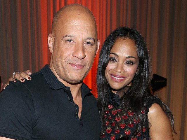 Zoe Saldana Accepts NALIP Latino Media Award From Vin Diesel