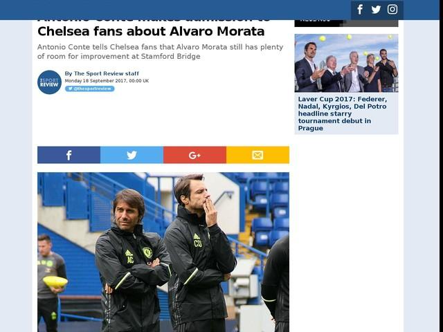 Antonio Conte makes admission to Chelsea fans about Alvaro Morata