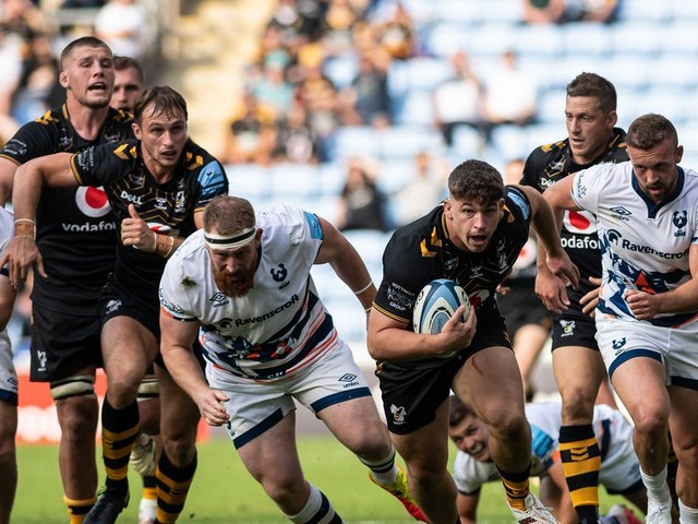 Gallery: Dan Frost scores on Wasps debut - pics by David Howlett