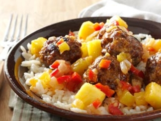Sweet-Spicy Asian Meatballs