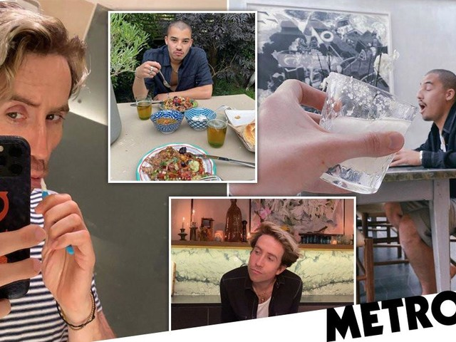 Inside Celebrity Gogglebox star Nick Grimshaw's London home where he's self-isolating with boyfriend Meshach Henry
