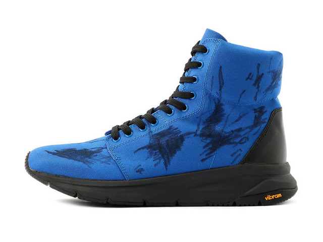 Scribbled Graphics Boxer Sneakers - The Yohji Yamamoto Nylon Ox Sneaker Boasts a Vibram Rubber Sole (TrendHunter.com)