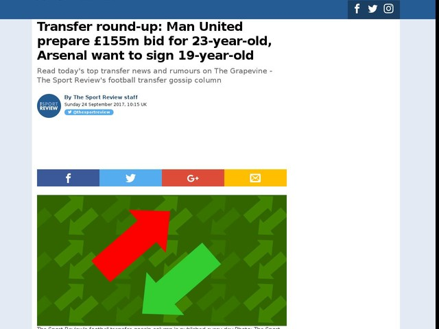 Transfer round-up: Man United prepare £155m bid for 23-year-old, Arsenal want to sign 19-year-old