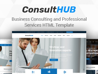 Consult HUB - Business Consulting and Professional Services HTML Template (Business)