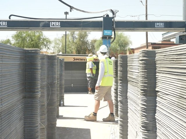 Habitat for Humanity is building a 3D-printed home in Arizona to help solve the affordable housing crisis. See how it's being constructed.
