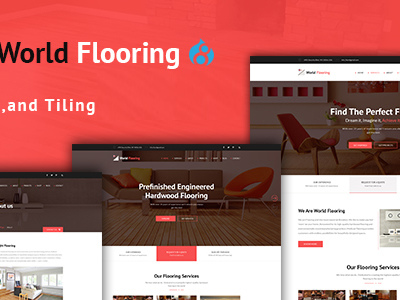 World Flooring - Flooring, Tiling & Paving Services Drupal 8 Theme (Business)