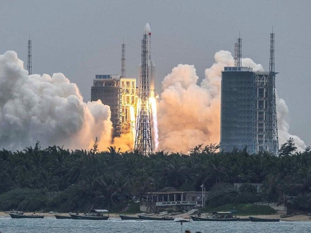 A European astronaut says the risk of the uncontrolled Chinese rocket hitting a home is like getting hit by lightning — and if it did, people would only get a few hours' warning