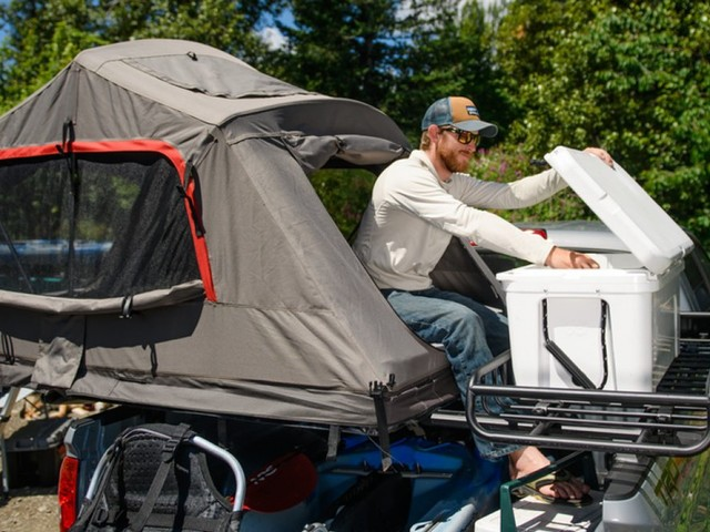 This $2,000 tent lets you camp outside without sleeping on the ground — it's pricey, but it's a lot cheaper than buying an RV