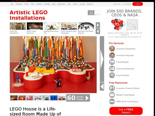 Artistic LEGO Installations - LEGO House is a Life-sized Room Made Up of LEGO Pieces (TrendHunter.com)